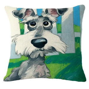 Goofy Golden Retriever Cushion CoverCushion CoverOne SizeSchnauzer