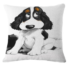 Load image into Gallery viewer, Goofy Painting Cigar Golden Retriever Cushion Cover - Series 2Cushion CoverOne SizeCocker Spaniel - Sitting