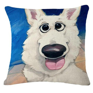 Goofy Painting Cigar Golden Retriever Cushion Cover - Series 2Cushion CoverOne SizeSamoyed