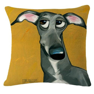 Goofy Painting Samoyed Cushion Cover - Series 2Cushion CoverOne SizeWhippet / Greyhound