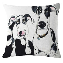 Load image into Gallery viewer, Goofy Painting Whippet / Greyhound Cushion Cover - Series 2Cushion CoverOne SizeDalmatian - Two Dalmatians