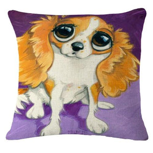 Goofy Painting Whippet / Greyhound Cushion Cover - Series 2Cushion CoverOne SizeKing Charles Spaniel