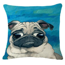 Load image into Gallery viewer, Goofy Pug Cushion CoverCushion CoverOne SizePug