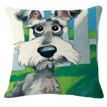 Load image into Gallery viewer, Goofy Pug Cushion CoverCushion CoverOne SizeSchnauzer