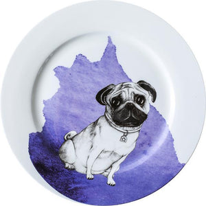 "Great Dane Love 10"" Bone China Dinner PlatesHome DecorPug"
