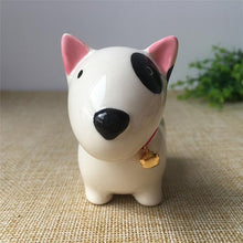 Load image into Gallery viewer, Grey Dog Love Ceramic Car Dashboard / Office Desk Ornament FigurineHome DecorBull Terrier