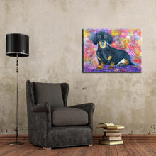 Load image into Gallery viewer, Hand Painted Dachshund Canvas Art Oil PaintingHome Decor