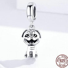 Load image into Gallery viewer, Happy Pug Love Silver PendantDog Themed Jewellery