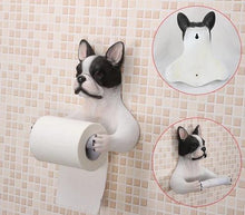 Load image into Gallery viewer, Headscarf Bow Pug Toilet Roll HolderHome DecorBoston Terrier