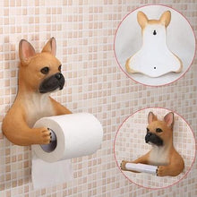 Load image into Gallery viewer, Headscarf Bow Pug Toilet Roll HolderHome DecorFrench Bulldog