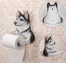 Load image into Gallery viewer, Headscarf Bow Pug Toilet Roll HolderHome DecorHusky