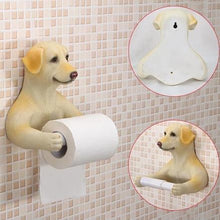 Load image into Gallery viewer, Headscarf Bow Pug Toilet Roll HolderHome DecorLabrador