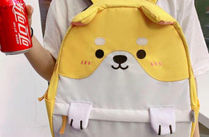 Husky and Shiba Inu Love Canvas BackpackAccessories