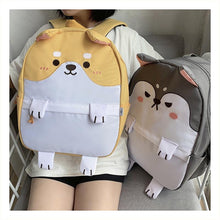 Load image into Gallery viewer, Husky and Shiba Inu Love Canvas BackpackAccessories