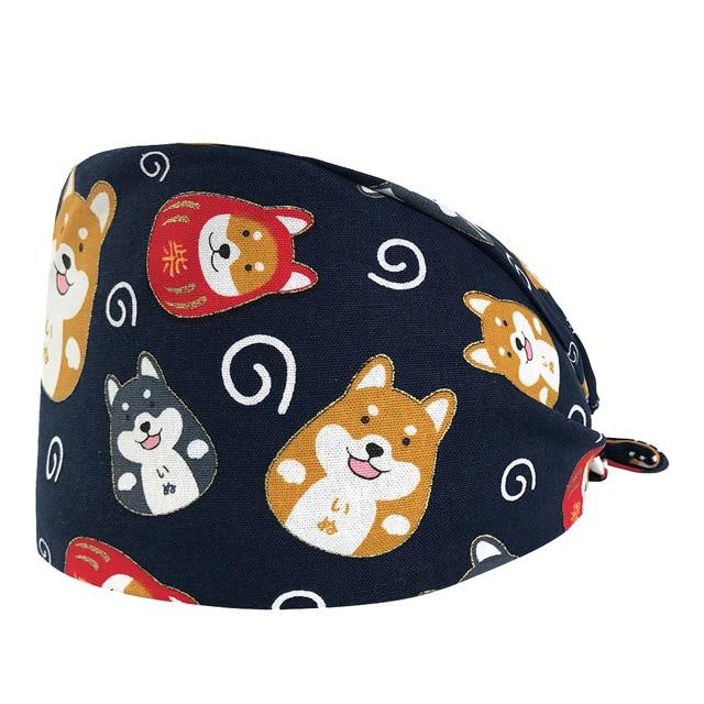 Husky and Shiba Inu Love Cotton Face Mask and Protective HatAccessoriesHatOne Size