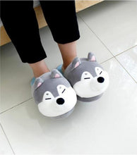 Load image into Gallery viewer, Husky and Shiba Inu Love Warm Indoor SlippersFootwear