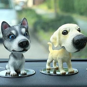 Husky Love Car Bobble HeadCarHusky Standing