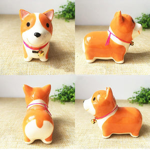 Husky Love Ceramic Car Dashboard / Office Desk Ornament FigurineHome Decor