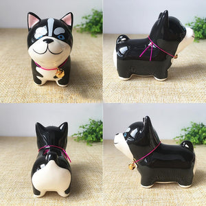 Husky Love Ceramic Car Dashboard / Office Desk Ornament FigurineHome DecorHusky