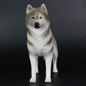 Husky Love Lifelike Resin Figurine StatueHome Decor