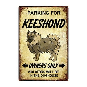 Husky Love Reserved Car Parking Sign BoardCarKeeshondOne Size