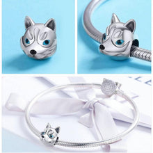 Load image into Gallery viewer, Husky Love Silver Charm BeadJewellery
