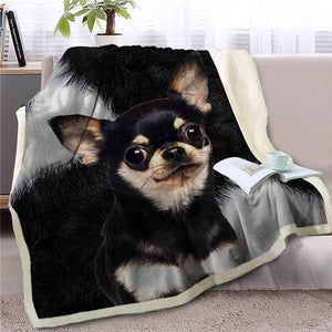 Husky Love Soft Warm Fleece BlanketBlanketChihuahuaSmall