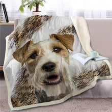 Load image into Gallery viewer, Husky Love Soft Warm Fleece BlanketBlanketTerrierSmall