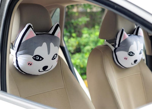 Husky Love Stuffed Cushion and Neck PillowCar Accessories