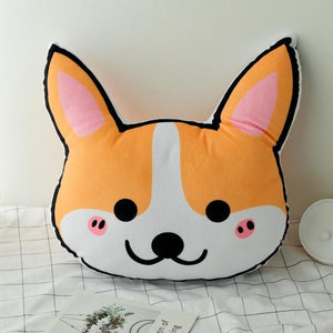 Husky Love Stuffed Cushion and Neck PillowCar AccessoriesCar PillowCorgi