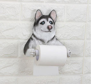 Husky Love Toilet Roll HolderHome Decor