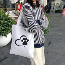 Load image into Gallery viewer, I Heart Dogs Canvas Tote BagsAccessories