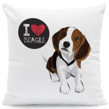 Load image into Gallery viewer, I Heart My Boston Terrier Cushion CoversCushion CoverOne SizeBeagle