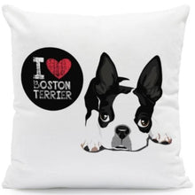 Load image into Gallery viewer, I Heart My Boston Terrier Cushion CoversCushion CoverOne SizeBoston Terrier