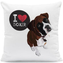 Load image into Gallery viewer, I Heart My Boston Terrier Cushion CoversCushion CoverOne SizeBoxer