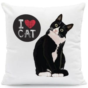 I Heart My Boston Terrier Cushion CoversCushion CoverOne SizeCat