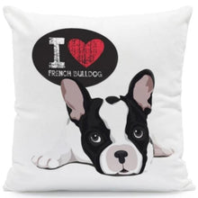 Load image into Gallery viewer, I Heart My Boston Terrier Cushion CoversCushion CoverOne SizeFrench Bulldog