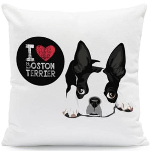 I Heart My Pit bull Terrier Cushion CoverCushion CoverOne SizeBoston Terrier