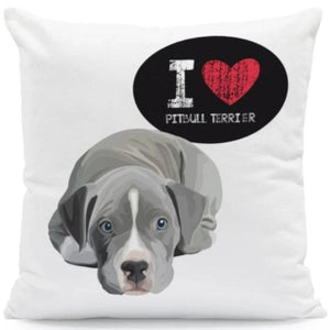 I Heart My Pit bull Terrier Cushion CoverCushion CoverOne SizePitbull Terrier