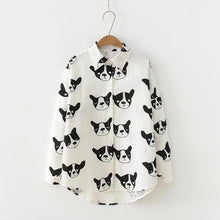 Load image into Gallery viewer, I Love French Bulldogs Womens ShirtWhiteL