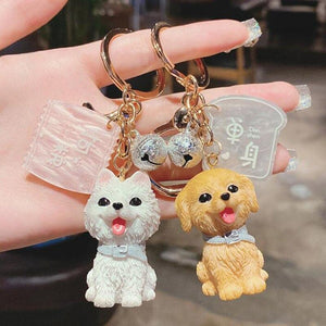 I Love My Bichon Frise KeychainAccessories