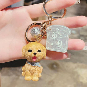 I Love My Bichon Frise KeychainAccessoriesGolden Retriever