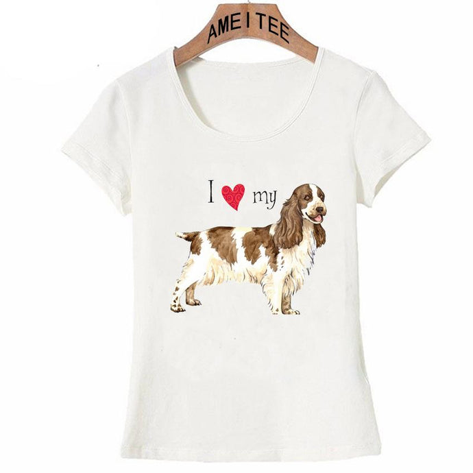 I Love My Cocker Spaniel Womens T ShirtApparel