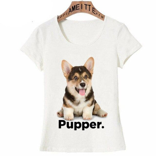 I Love My Corgi Pupper Womens T ShirtApparelCorgiS