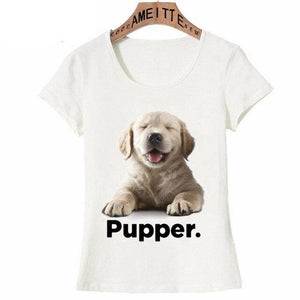 I Love My Doggo Pupper Womens T ShirtApparelGolden RetrieverS