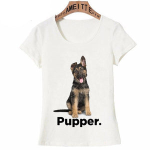 I Love My Golden Retriever Pupper Womens T ShirtApparelGerman ShepherdS