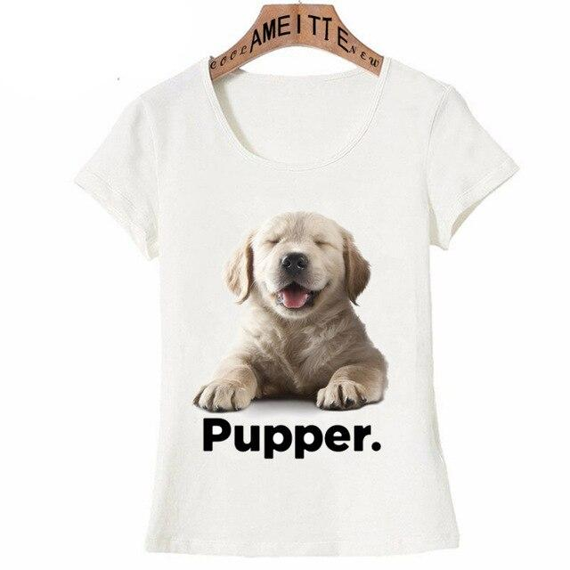I Love My Golden Retriever Pupper Womens T ShirtApparelGolden RetrieverS
