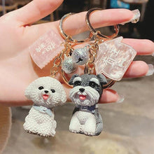 Load image into Gallery viewer, I Love My Schnauzer KeychainAccessories