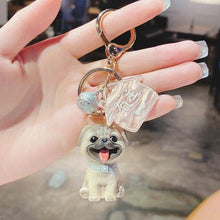 Load image into Gallery viewer, I Love My Schnauzer KeychainAccessoriesPug