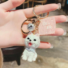 Load image into Gallery viewer, I Love My Schnauzer KeychainAccessoriesSamoyed